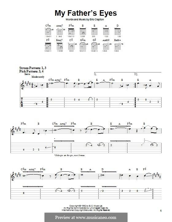 My Father's Eyes: Für Gitarre mit Tabulatur by Eric Clapton