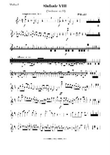 String symphony No.8 in D Major: Stimmen by Felix Mendelssohn-Bartholdy