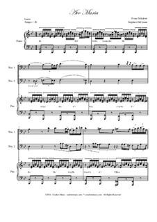 Ave Maria, D.839 Op.52 No.6: For trombone duet by Franz Schubert