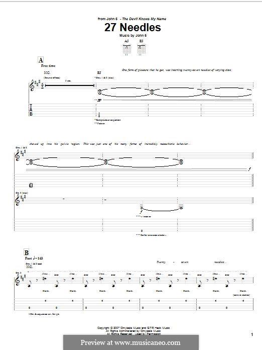 27 Needles: Für Gitarre mit Tabulatur by John 5