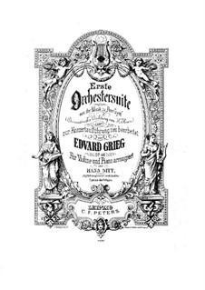 Suite Nr.1, Op.46: Bearbeitung für Violine und Klavier by Edvard Grieg