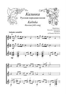 Kalinka-malinka: Für Gitarre by folklore