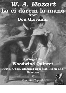 Reich mir die Hand, mein Leben: For woodwind quintet by Wolfgang Amadeus Mozart