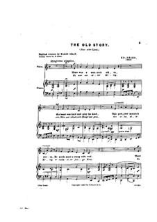 Sechs Gedichte, Op.4: Nr.5 Das alte Lied by Edvard Grieg