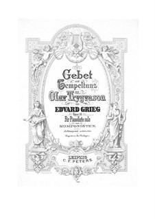 Olav Trygvason, Op.50: Gebet und Tempeltanz, für Klavier by Edvard Grieg