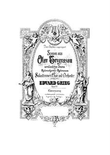 Olav Trygvason, Op.50: Klavierauszug mit Singstimmen by Edvard Grieg