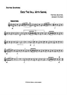 Deck the Hall with Swing: For saxophone quartet - baritone saxophone part by folklore