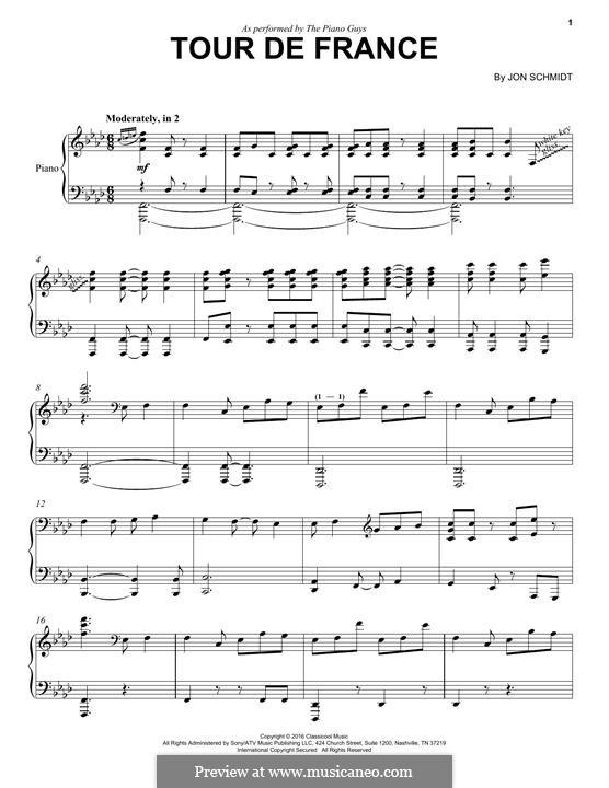 Tour de France (The Piano Guys): Für Klavier by Jon Schmidt