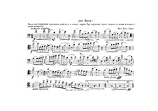 Ave Maria: Kontrabassstimme by Johann Sebastian Bach, Charles Gounod
