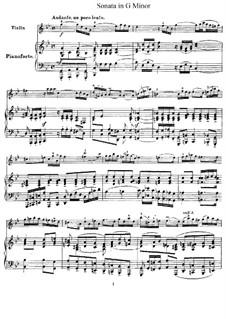 Sonate für Violine und Cembalo in g-Moll, HWV 368 Op.1 No.10: Version für Violine und Klavier – Partitur, Stimme by Georg Friedrich Händel