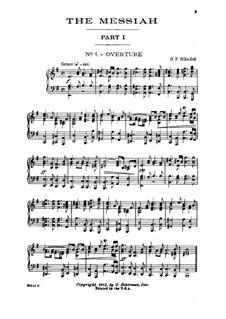 Nr.1 Ouvertüre: Für Klavier by Georg Friedrich Händel