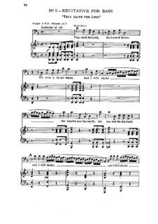 No.5 Thus Saith the Lord: No.5 Thus Saith the Lord by Georg Friedrich Händel