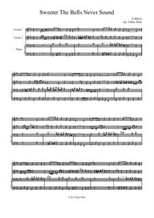 Süßer die Glocken nie klingen: Für Zwei Geigen und Klavier by folklore