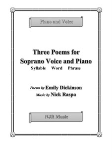 Three Poems for Soprano Voice & Piano: Three Poems for Soprano Voice & Piano by Nick Raspa