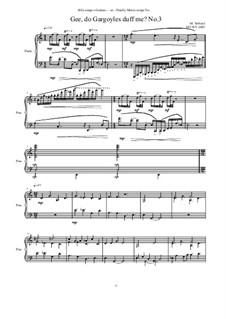 Gee, do Gargoyles duff me No.3, MVWV 1085: Gee, do Gargoyles duff me No.3 by Maurice Verheul