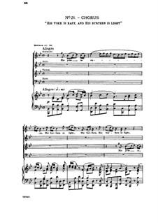 Nr.21 Sein Joch ist sanft: Klavierauszug mit Singstimmen by Georg Friedrich Händel