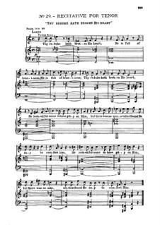 Nr.29 Die Schmach bricht ihm sein Herz: Für Solist und Klavier by Georg Friedrich Händel