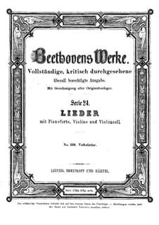 Zwölf Volkslieder, WoO 157: Zwölf Volkslieder by Ludwig van Beethoven