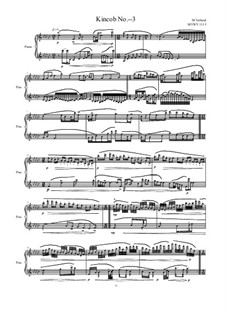 Kincob No.- - 3 for piano, MVWV 1115: Kincob No.- - 3 for piano by Maurice Verheul