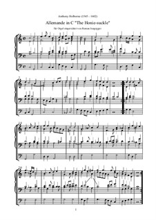 Allemande 'The Honie-Suckle': Orgel-Transkription by Anthony Holborne