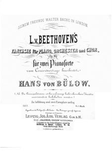 Fantasie in c-Moll, Op.80: Für zwei Klaviere, vierhändig by Ludwig van Beethoven