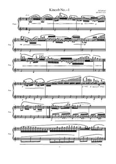 Kincob No.- - 1 for piano, MVWV 1113: Kincob No.- - 1 for piano by Maurice Verheul