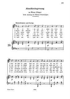 Abschiedsgesang, WoO 102: Klavierauszug mit Singstimmen by Ludwig van Beethoven