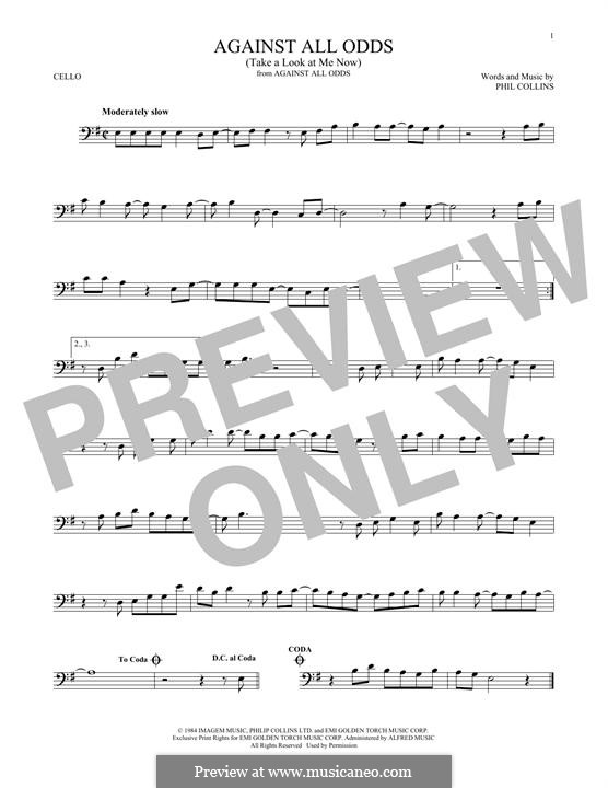 Against All Odds (Take a Look at Me Now): Für Cello by Phil Collins