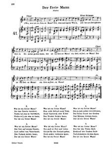 Der freie Mann, WoO 117: Klavierauszug mit Singstimmen by Ludwig van Beethoven