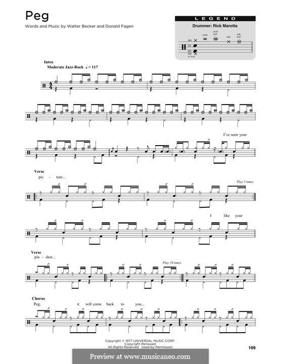 Peg (Steely Dan): Drum set by Donald Fagen, Walter Becker
