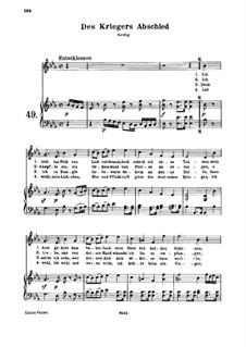 Des Kriegers Abschied, WoO 143: Des Kriegers Abschied by Ludwig van Beethoven