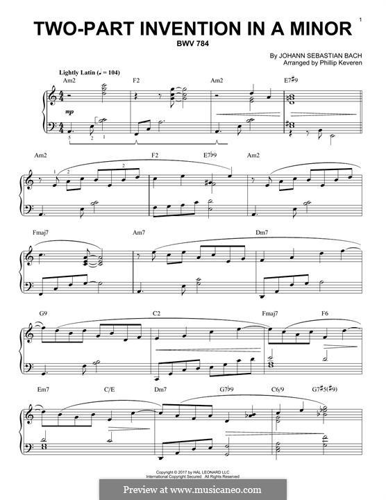 Nr.13 in a-moll, BWV 784: Für Klavier by Johann Sebastian Bach