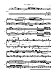 Kincob No.+4 for piano, MVWV 1105: Kincob No.+4 for piano by Maurice Verheul
