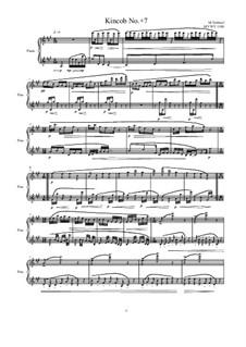 Kincob No.+7 for piano, MVWV 1108: Kincob No.+7 for piano by Maurice Verheul