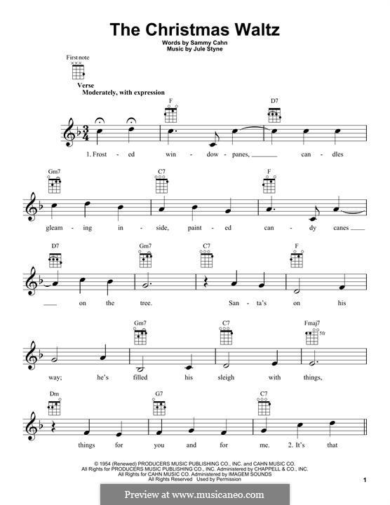 The Christmas Waltz: Für Ukulele by Jule Styne