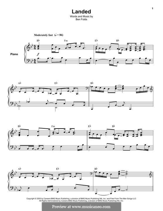 Landed: Für Klavier by Ben Folds