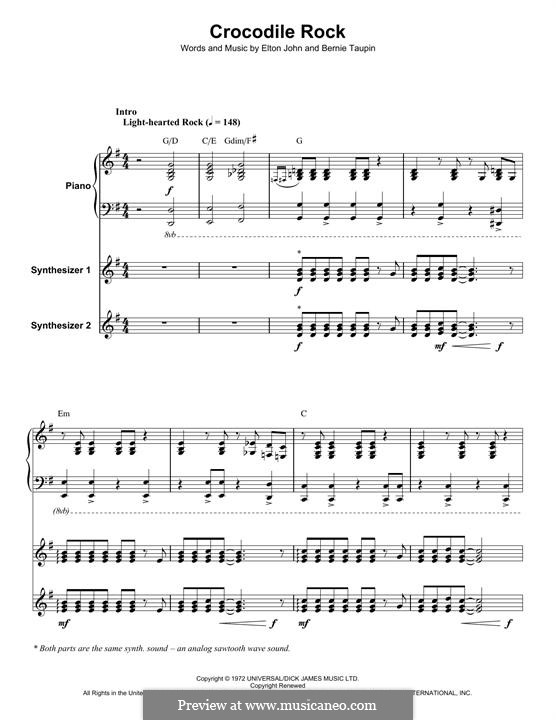 Crocodile Rock: Für Klavier by Elton John