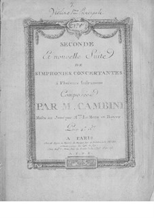 Symphonies Concertantes: Second Suite, No.1 for two violins and orchestra by Giuseppe Maria Cambini