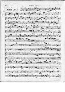 Symphonies Concertantes: First Suite, No.4 for two flutes and orchestra by Giuseppe Maria Cambini