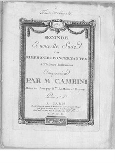 Symphonies Concertantes: Second Suite, No.6 for two flutes and orchestra by Giuseppe Maria Cambini