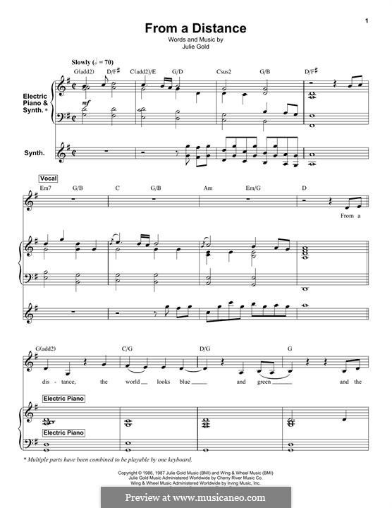 From a Distance: Für Stimme und Klavier by Julie Gold