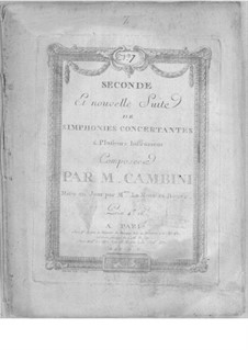 Symphonies Concertantes: Second Suite, No.7 for two oboes and orchestra by Giuseppe Maria Cambini