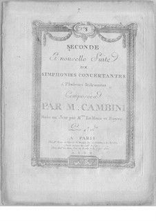 Symphonies Concertantes: Second Suite, No.8 for two violins and orchestra by Giuseppe Maria Cambini