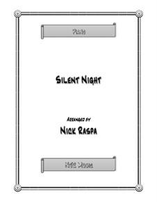Stille Nacht, für Klavier: Version late elementary jazz by Franz Xaver Gruber
