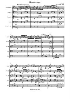 Humoresken, B.187 Op.101: No.7, for violin solo and string orchestra by Antonín Dvořák