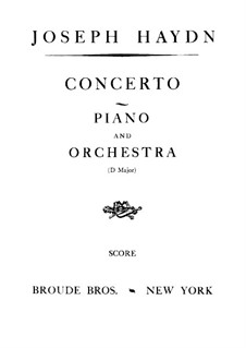 Konzert für Klavier und Orchester Nr.11 n D-Dur, Hob.XVIII/11: Vollpartitur by Joseph Haydn