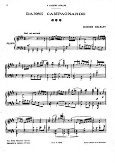 Danse campagnarde: Danse campagnarde by Jacques Charlot
