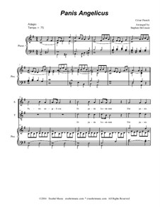 Panis angelicus: For soprano and tenor solo - piano accompaniment (with accompaniment track) by César Franck