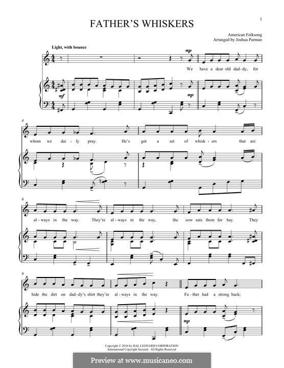 Father's Whiskers: Für Stimme und Klavier by folklore