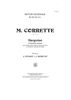 Konzert für drei Violinen, Cello und Klavier No.3 'Margoton': Violinstimme I by Michel Corrette